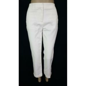 Chico's So Slimming White Crop Pants S 6 NEW